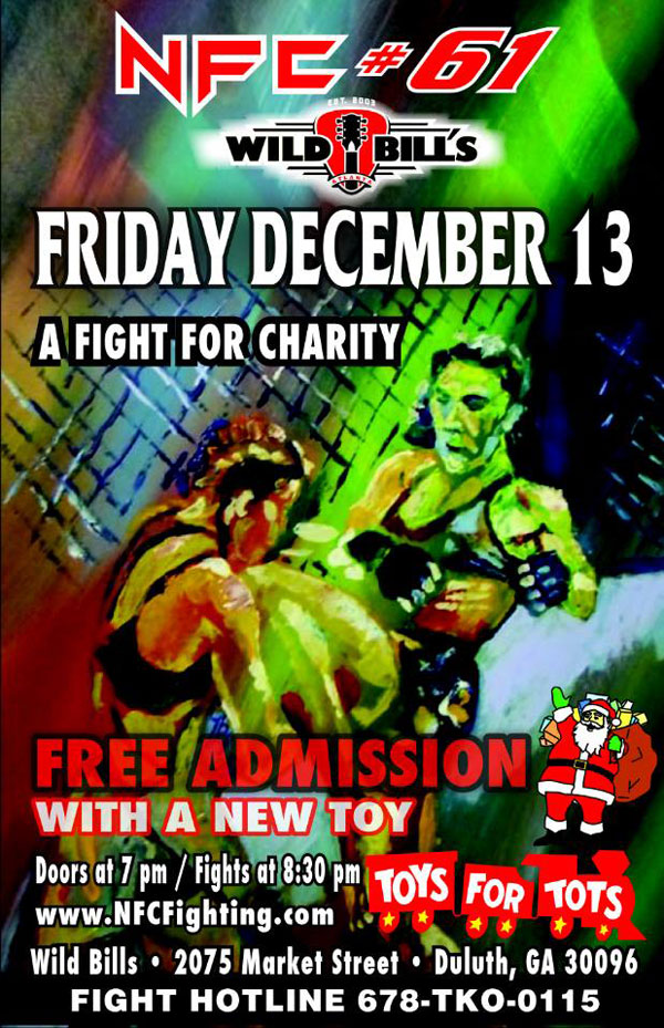 NFC charity fight poster